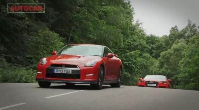 English publications like comparing Audi RS6 against R35?!   イギリスの自動車誌はアウディRS6とR35比較が大好き?!