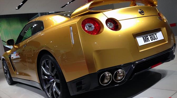 Usain Bolt's Gold GT-R ウサイン・ボルトのゴールドGT-R