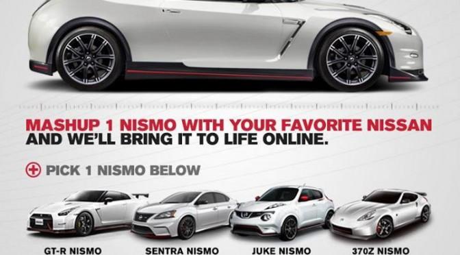 Mashup your favorite NISMO models!  お気に入りのニスモマシンを混ぜましょう?!